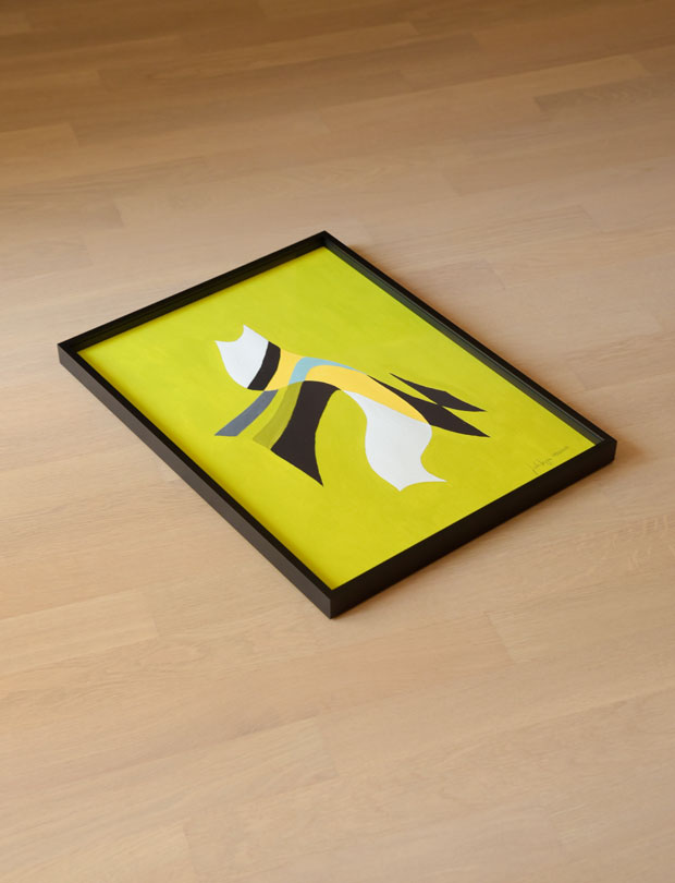 Duck; Abstract; Geometric; Interior; Frame; Painting; Gouache; Illustration