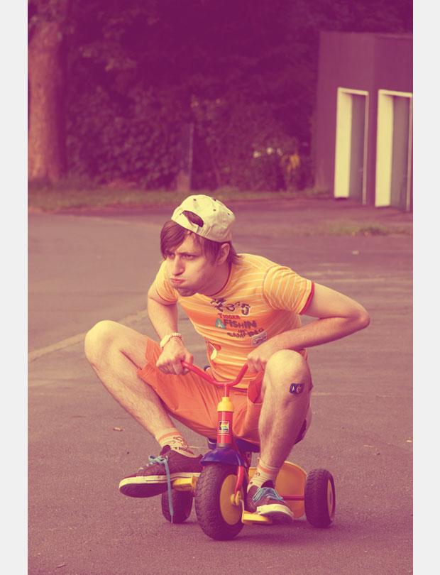 Photography; Family Album; Family; Album; Bike; Skater; old photo; Colour crossing; Boy; Child; Man; Childhood; Portrait